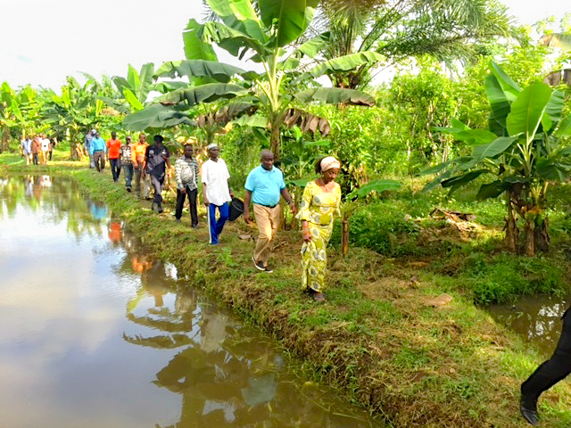 Ghana Minister of Fisheries visits the farm